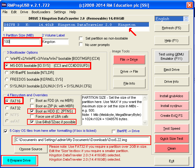 Edd ความทรงจำ เรื่องราว เอามาโม้ | Boot MS-DOS 6 22 ใน USB