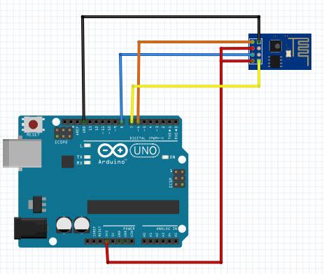 Edd ความทรงจำ เรื่องราว เอามาโม้   Arduino Uno + ESP-01 AT ...